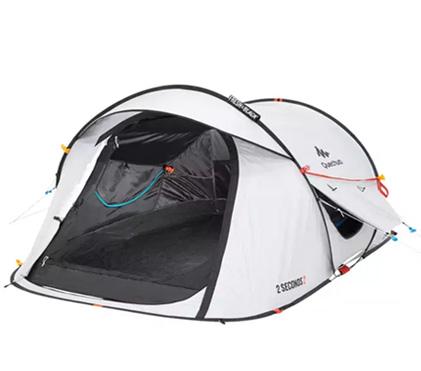 Quechua 2 Seconds Fresh And Black אוהל קמפינג למטייל המתחיל