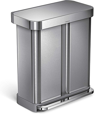 פח תא כפול Simplehuman Dual Bucket Recycler