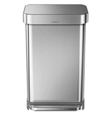 פח אשפה איכותי Simplehuman Rectangular Step 45L